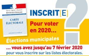 Elections municipales inscrivez vous avant le 7 février